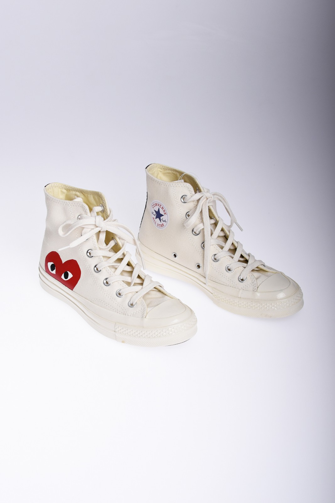 COMME DES GARÇONS Play Converse Chuck Taylor All Star high white sneakers