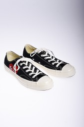 COMME DES GARCONS Play Converse Chuck Taylor All Star low black sneakers