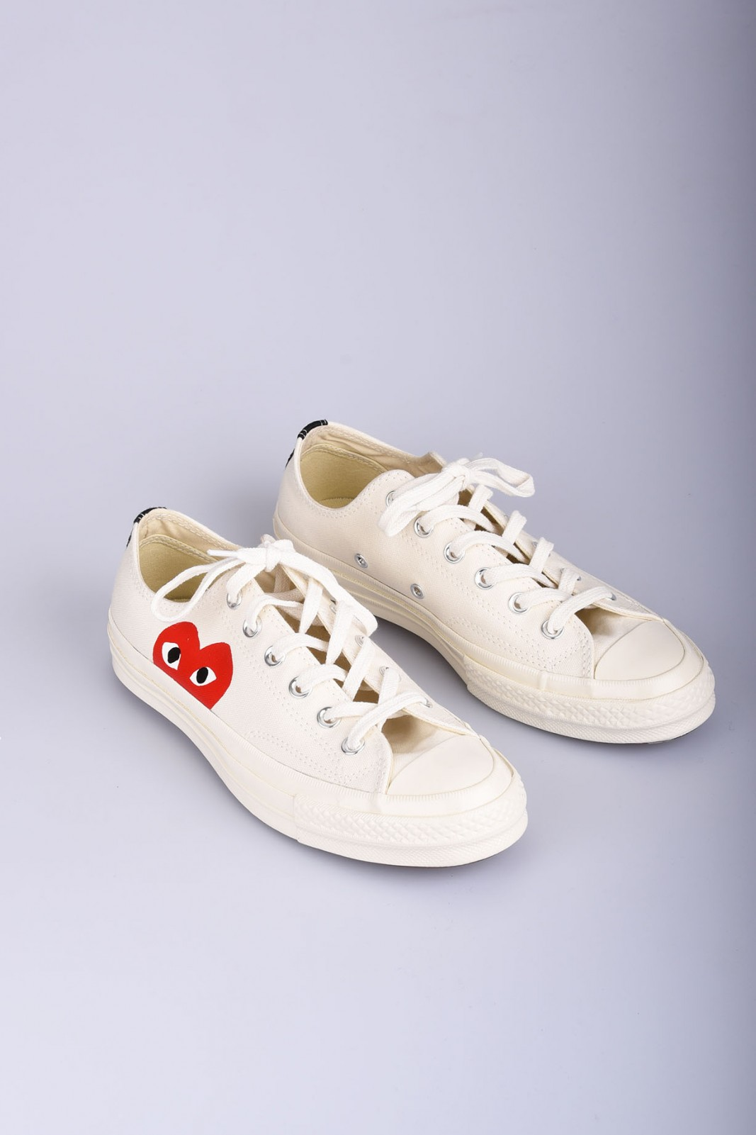 COMME DES GARCONS Play Converse Chuck Taylor All Star white low sneakers