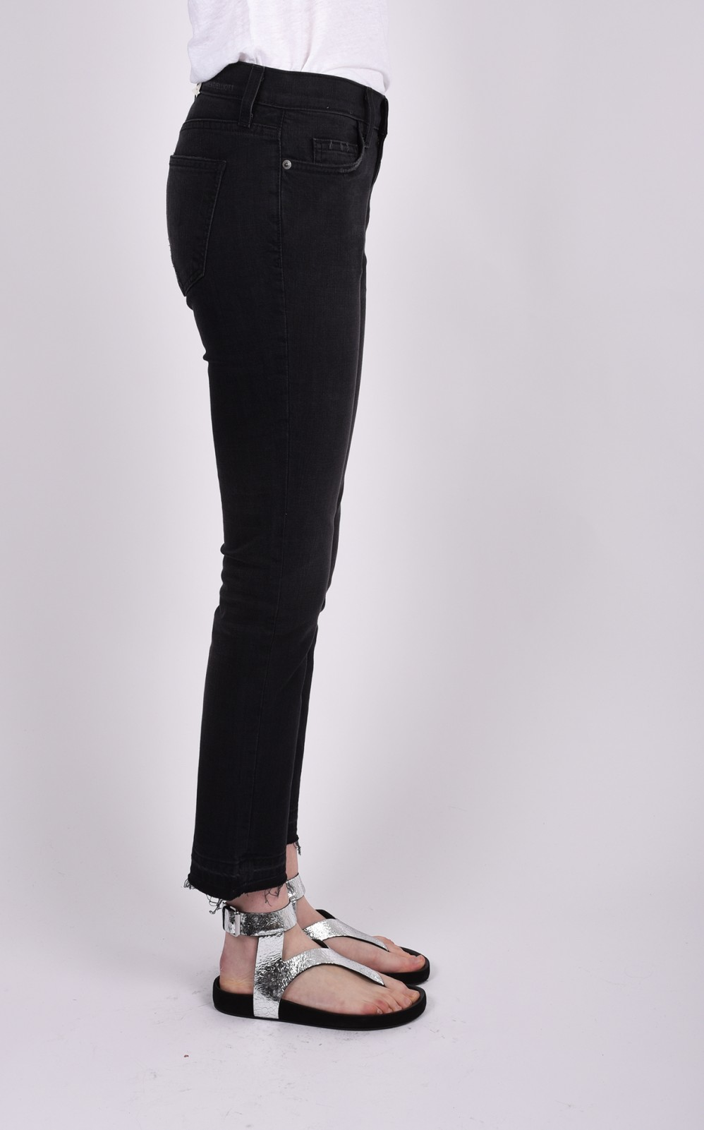 "CURRENT ELLIOT denim pants ""the cropped straight"""