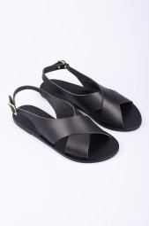 "ANCIENT GREEK SANDALS black leather sandals ""Maria"""