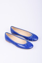 SPREE blue leather ballerinas