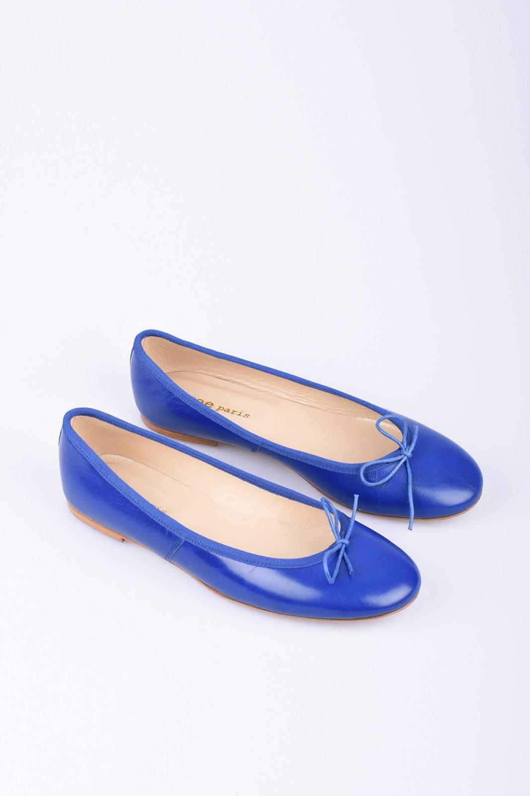 SPREE blue leather ballerinas