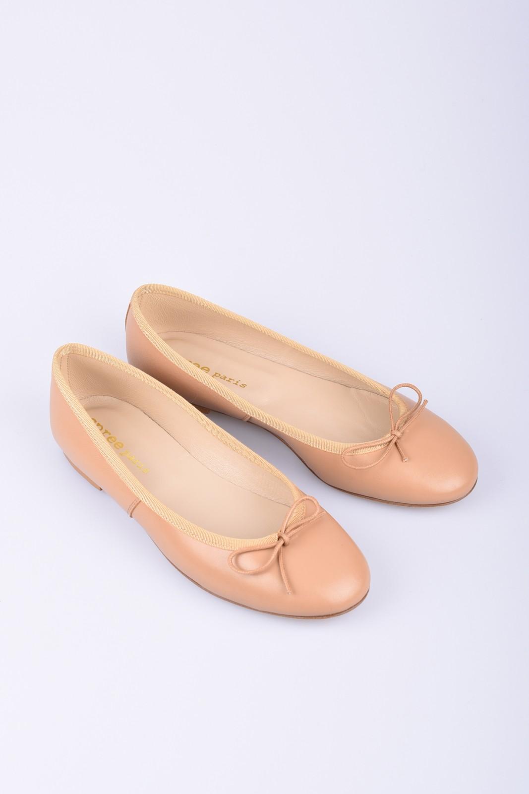 SPREE nude leather ballerinas