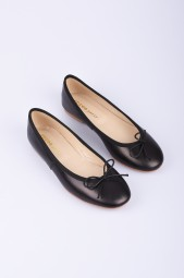SPREE black leather ballerinas