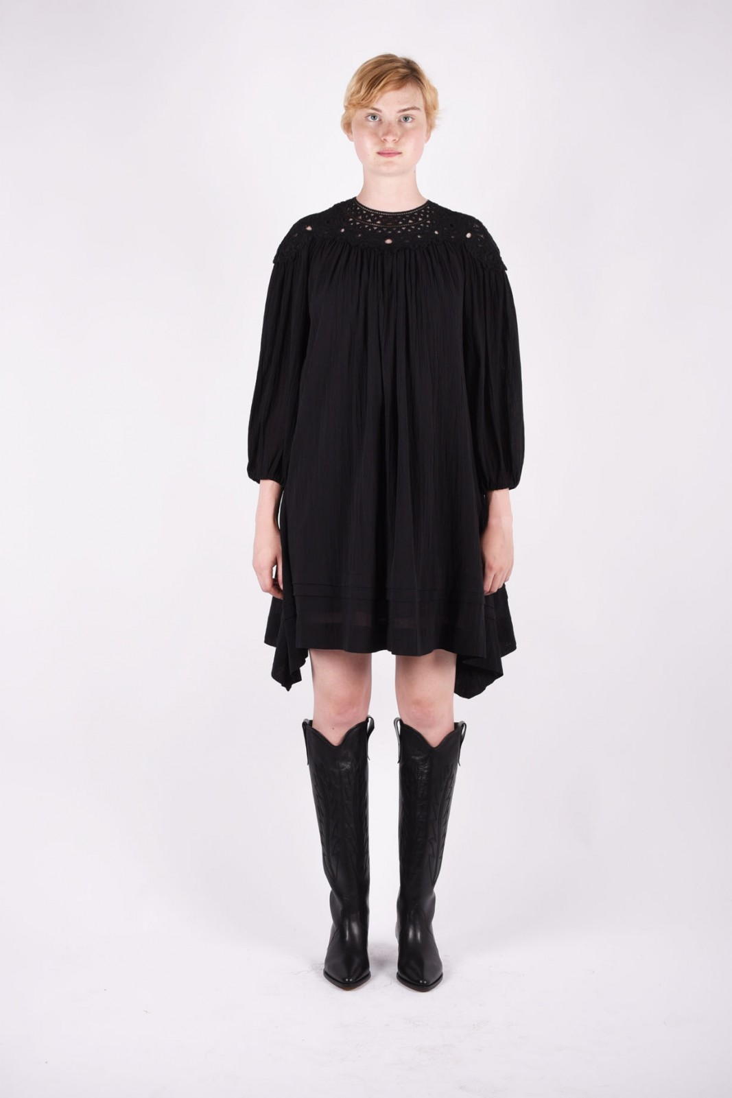 ISABEL MARANT rita embroidered cotton dress