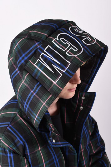 MSGM plaid quilted cropped padded jacket