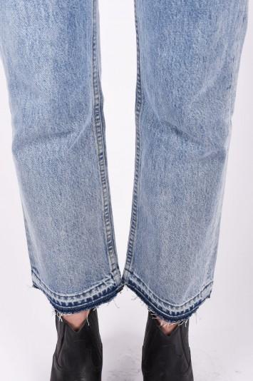 HELMUT LANG blue mid rise straight leg jeans
