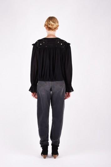 ISABEL MARANT ÉTOILE rock embroidered blouse