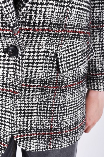 ISABEL MARANT ÉTOILE ice plaid wool-blend blazer