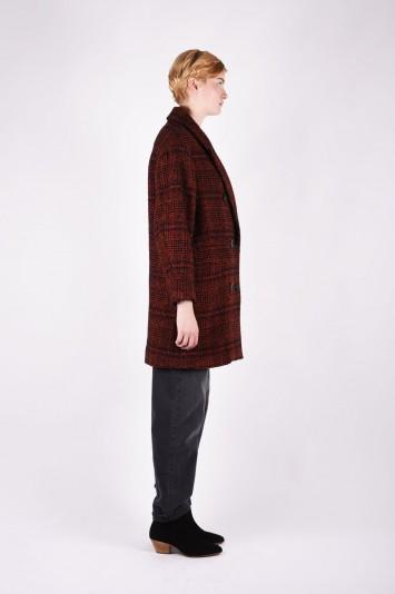 ISABEL MARANT ÉTOILE Ebra plaid wool-blend coat