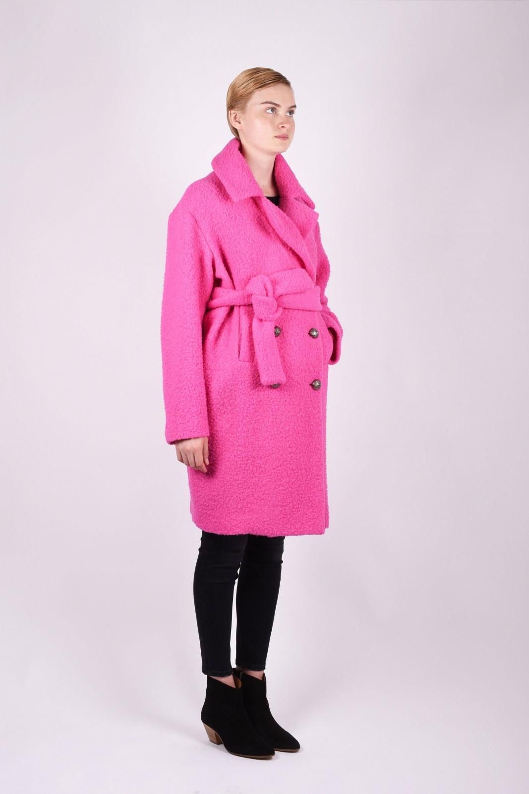 MSGM manteau en laine ceinturé
