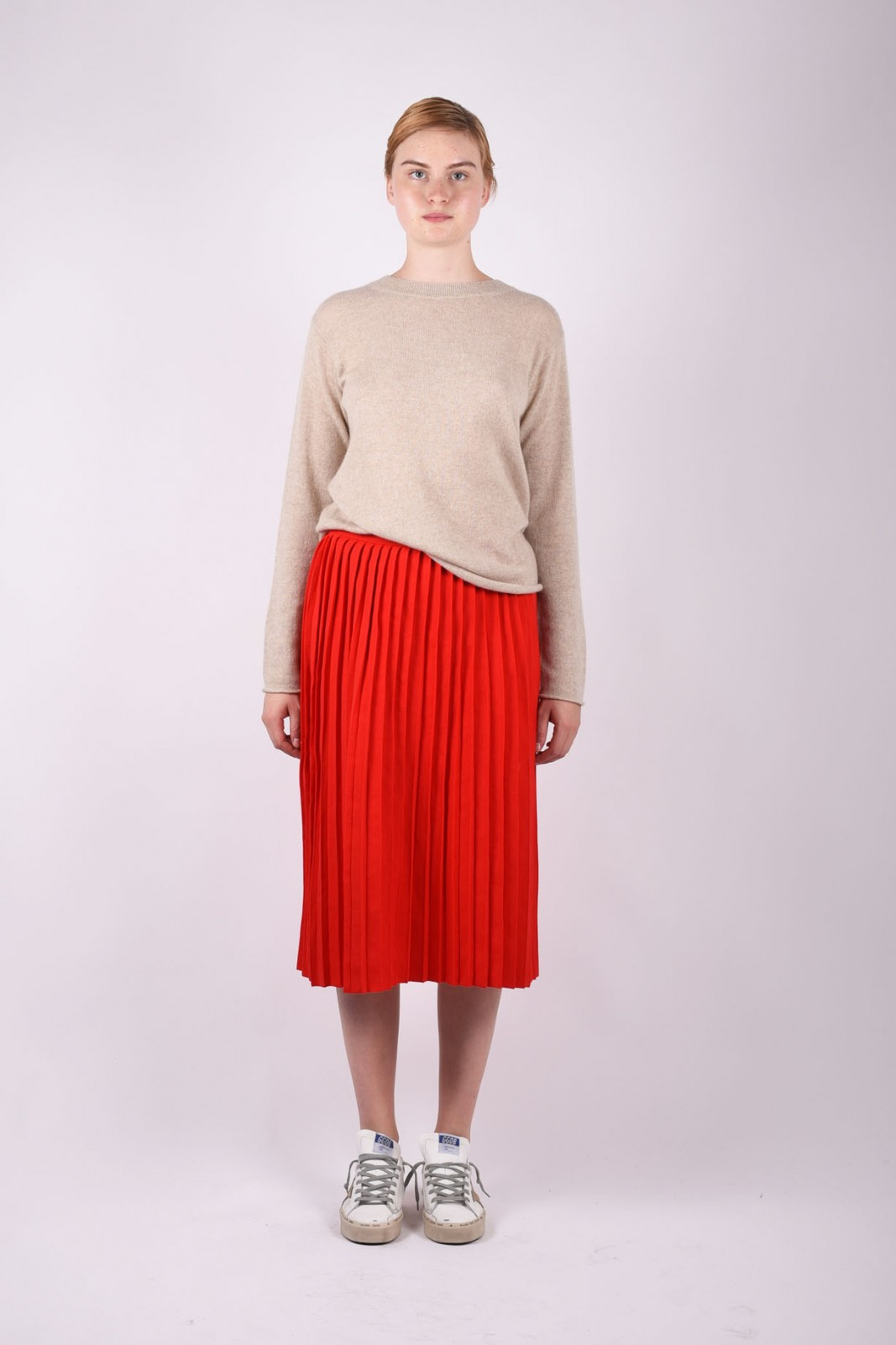 SOFIE D'HOORE pleated midi skirt