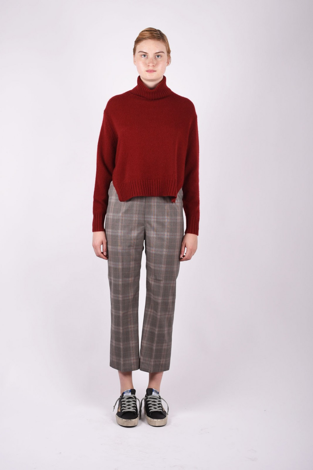 SOFIE D'HOORE plaid cropped trousers